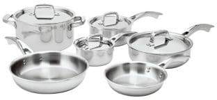 Zwilling J.A. Henckels Truclad 10-Piece Cookware Set - Induction Ready