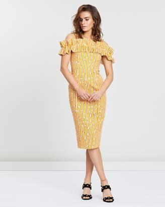 Brio Stripe Midi Dress