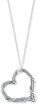 """Peter Thomas Roth Open Heart 20"""" Pendant Necklace in Sterling Silver"""