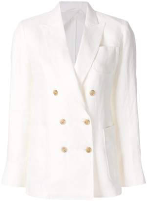 Max Mara double-breasted linen blazer