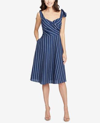 Rachel Roy Kate Striped Faux-Wrap Dress, Created for Macy's