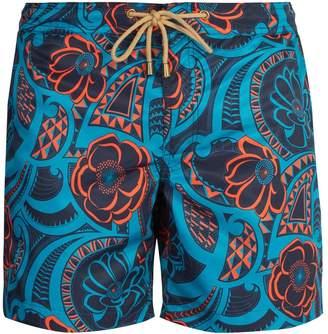 THORSUN Titan-fit Tattoo Floral-print swim shorts
