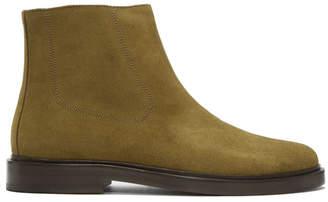 A.P.C. Beige Suede Leonard Boots
