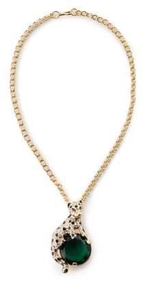 Kenneth Jay Lane Gold-Tone Crystal And Enamel Necklace