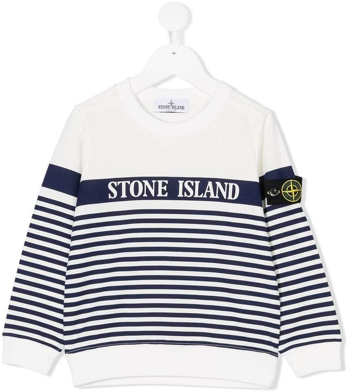 Stone Island Junior striped sweatshirt