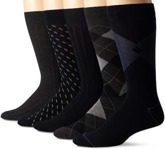 Dockers 5 Pack Classics Dress Argyle Crew Socks