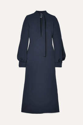 Victoria Beckham Cutout Crepe Midi Dress - Navy