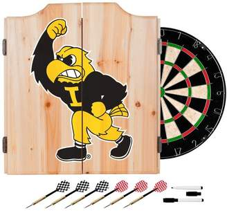 D+art's Trademark Gameroom University of Iowa Dart Cabinet Set With Darts and Board