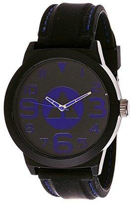 Airwalk アナログブラックダイヤルブルーアクセント腕時計