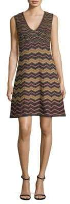 M Missoni Zig-Zag Lurex A-Line Dress