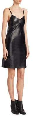 Helmut Lang Leather Slip Dress