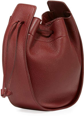 The Row Drawstring Deerskin Leather Pouch Bag