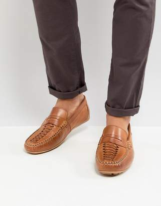 Base London Palmer Leather Loafers in Tan