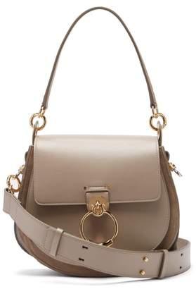 Chloé Tess Large Leather Cross Body Bag - Womens - Grey