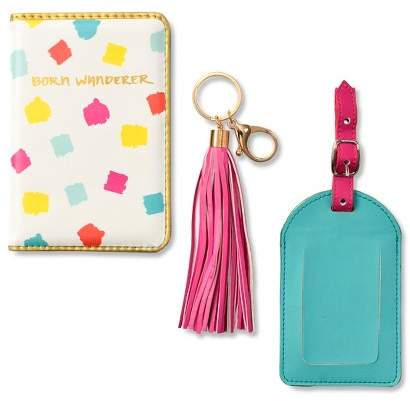 Mara Mi Fun And Flirty Travel Set Passport Folio, Luggage Tag And Keychain 2