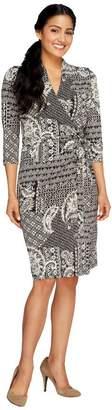 Liz Claiborne New York Petite Printed Knit Wrap Dress