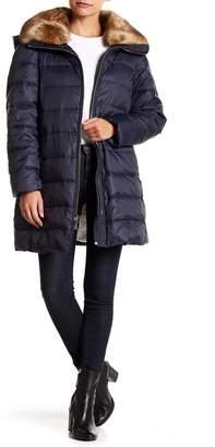Kate Spade Faux Fur Trim Collar Down Jacket