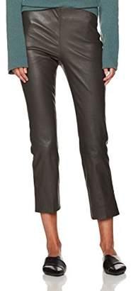 Vince Women's Leather Split Hem Crop Pant