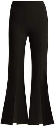 Roland Mouret Danesfield kick-flare crepe trousers