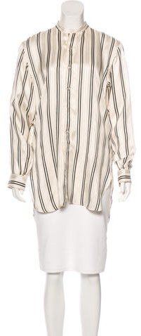 Ralph Lauren Collection Silk Striped Top