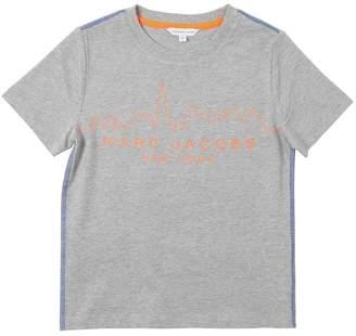 Little Marc Jacobs Skyline Logo Print Cotton Jersey T-Shirt