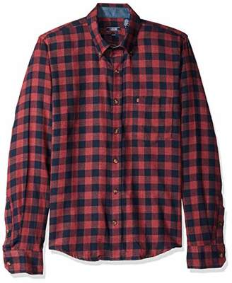 Izod Men's Slim Fit Flannel Button Down Long Sleeve Soft Touch Shirt