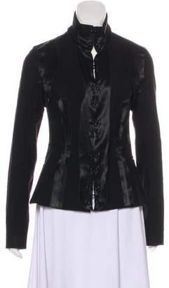 Rochas Long Sleeve Mock Neck Jacket
