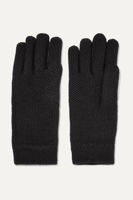 Loro Piana Crocheted Cashmere Gloves