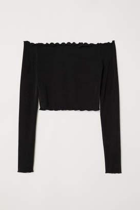 98dc8adfd33 Black Off The Shoulder Top - ShopStyle UK