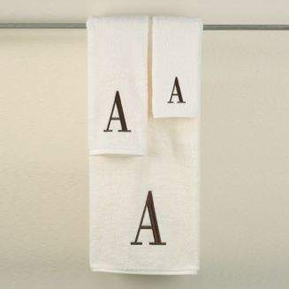 "Avanti Monogram Letter"" Hand Towel"