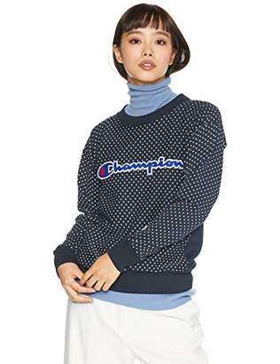 Champion (チャンピオン) - [チャンピオン] リバースウィーブ クルーネックスウェットシャツ CW-N009 レディース ネイビー 日本 M (日本サイズM相当)