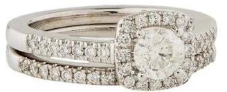 Marchesa 18K Diamond Wedding Set