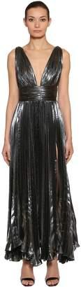Maria Lucia Hohan Plissé Lurex Chiffon Midi Dress