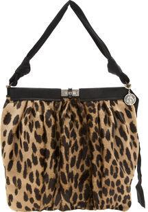 Lanvin Drape Frame Bag- LEOPARD