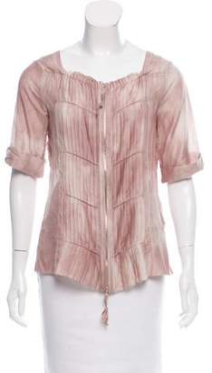 Schumacher Pleated Tie-Dye Printed Top w/ Tags