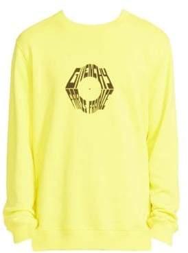 Givenchy Men's Logo Graphic Sweatshirt - Neon Yellow - Size Large