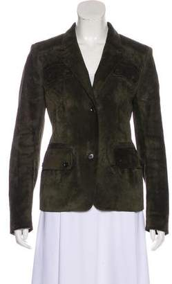 Belstaff Suede Button-Up Jacket