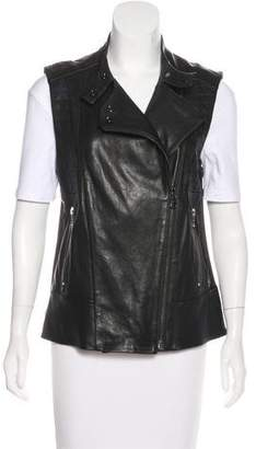 J Brand Leather Moto Vest w/ Tags