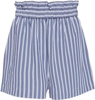 Tibi Striped Twill Shorts