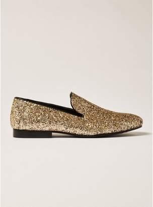 Topman Mens Gold Glitter Duke Loafers
