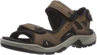 Ecco Shoes Men's Yucatan Espresso Sport Sandals, Espress/Cocoa Brown/Black, 42 EU/8.5-9 M US