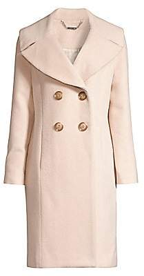 Elie Tahari Women's Athena Double Breasted Brushed Wool-Blend Coat