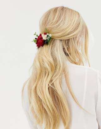 Asos Design DESIGN back hair crown in mixed florals