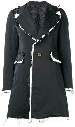 Comme des Garcons contrast frayed edges coat