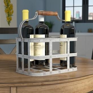 Gracie Oaks Nicks Galvanized 6 Bottle Tabletop Wine Rack Gracie Oaks