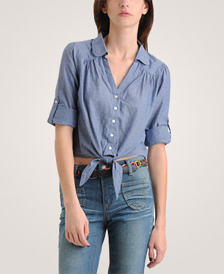 Heritage 1981 Tie Front Woven Shirt
