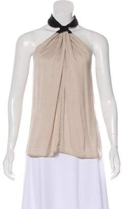 A.L.C. Pleated Halter Top