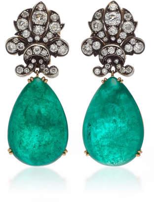 Munnu The Gem Palace Emerald And Diamond Drop Earrings