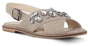 Women's Nine West Ostina Crystal Embellished Slingback Flat $88.95 thestylecure.com