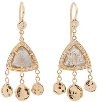 Jacquie Aiche Diamond, labradorite & yellow-gold earrings
